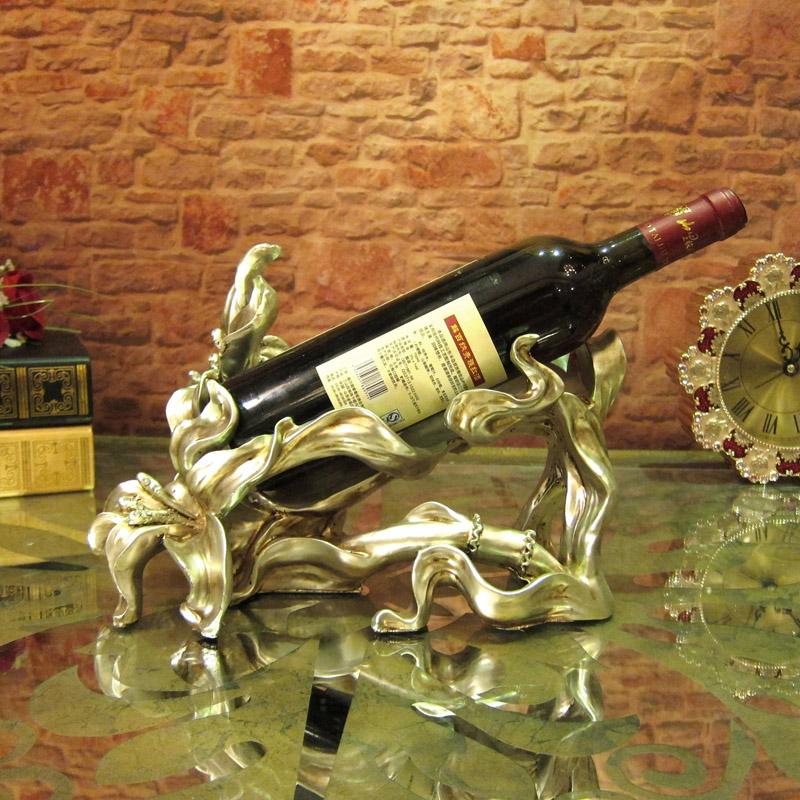 欧式时尚创意红酒架酒托树脂实用酒架家居酒柜电视柜