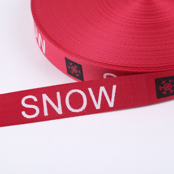 snow雪花英文螺紋彩色印花織帶輔料配件