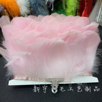 In the floating cloth with goose feather fluttering with lotus leaf edge feather skirt garment Accessories