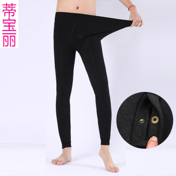 Men's warm pants pants plus velvet thick winter tight-fitting cotton pants youth wear Qiuku bowling pants female
