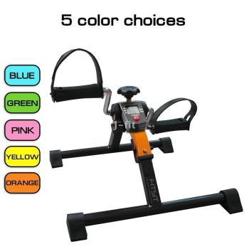 Platinum Fitness Fit Sit Deluxe Folding Pedal Exerciser Leg Machine with Electronic Display