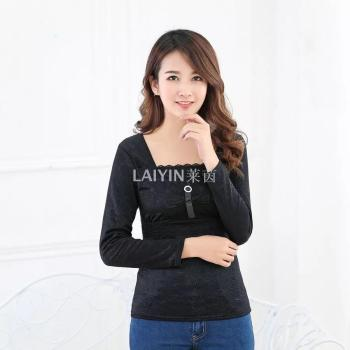 6705 Ladies warm underwear super soft plush warm long-sleeved sweater