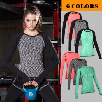 Outdoor running compress clothing tight stretch dry sportswear slim Yoga Dance training Fitness Clothing WA36