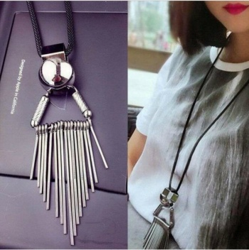 @ New Tassels Necklace European-American fast selling long necklace sweater chain