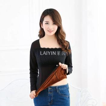 Rhine 6703 Winter Super soft warm underwear plush thickened bottom sweater body abs