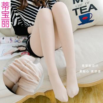 The 3 women's winter heating fiber constant temperature high waist abdomen hip stretch slim Leggings