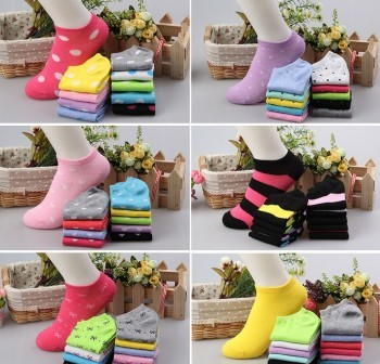 Women socks Pure Cotton socks Korean version candy color boat socks shallow mouth stealth socks