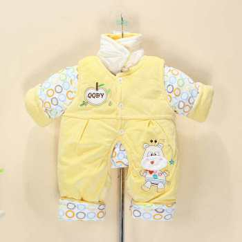 New baby suit winter children's trousers cotton padded baby clothing padded out clothing