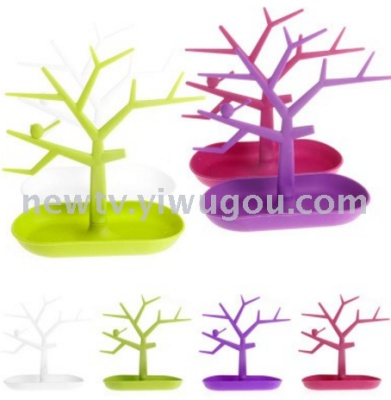 Tree color creative jewelry pendants rings earrings display bird tree display rack jewelry rack promotion