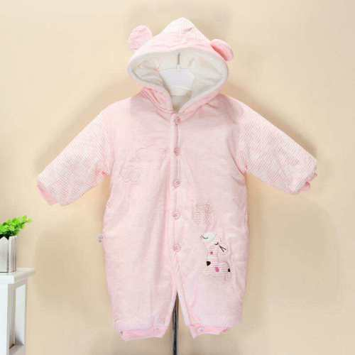 Autumn and winter children's piecemeal pajamas cotton padded boys and girls one-piece pajamas home service warm thick