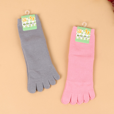 2017 new cotton toe socks five toe socks solid color tube loop five finger socks women socks