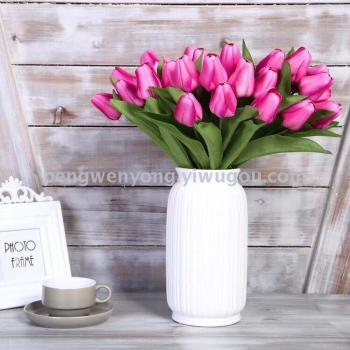 Nine French small tulip wedding props simulation tulips