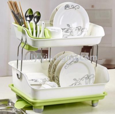 Double kitchen rack thickened plastic drainboard tableware bowl dish rack storage rack TV TV shopping ... & Supply Double kitchen rack thickened plastic drainboard tableware ...