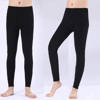 Men's warm pants pants plus velvet thick winter tight-fitting cotton pants youth wear Qiuku bowling pants female