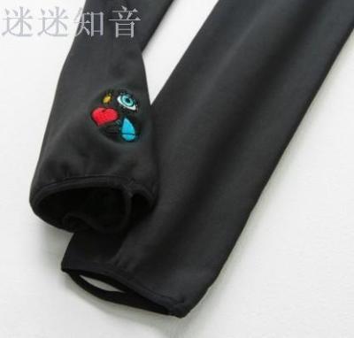 East Gate Queen Mother West Empress Bottom Socks embroidered nine pants West Midlands Leggings pantyhose