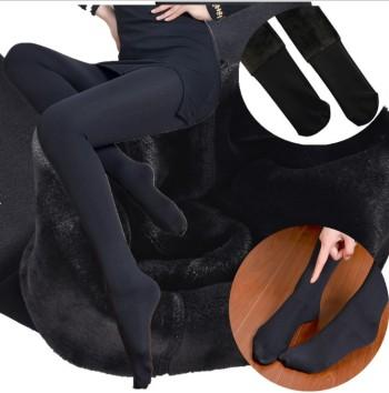 Winter women's pants high-density nylon size head layer 320 grams plus velvet thick pantyhose