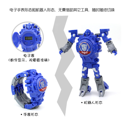 new creative manual deformation toys  children deformation watches boy deformation robot electronic watches