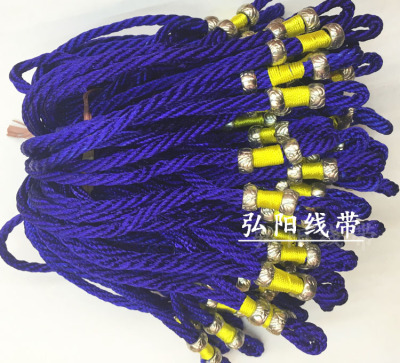 Chinese knot lanyard name wind tassel hanging head jewelry accessories metal silver pendant with rope