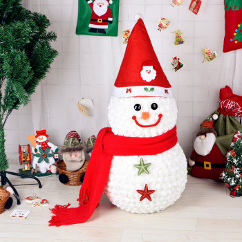 Eternal life white rose snowman Christmas Eve Valentine's Day gift New Year gifts 1314 white