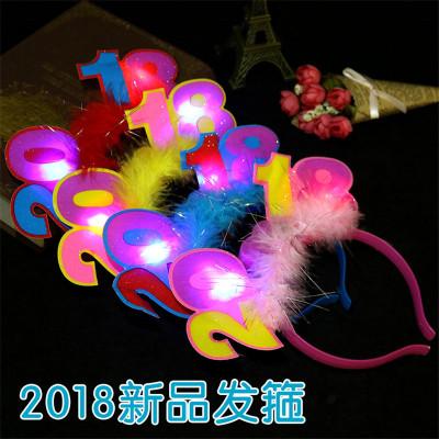 Hair headdress headband New Year's Eve flash headband dog year 2018 performance props