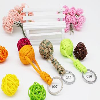 35 grams umbrella rope glass ball keychain 25 ball orange fluorescent green army camouflage