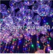 LED strip lights glowing waves balloon stall wedding night market decoration balloon helium balloon transparent balloon