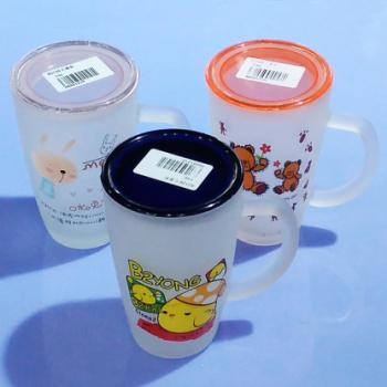 Wuyuan ten yuan distribution glass glass frosted glass 80126 cartoon cup