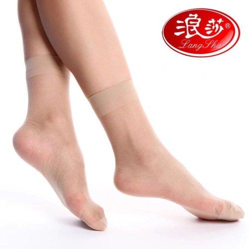 浪莎包芯丝短丝袜正品女士袜子夏季丝袜超薄透明