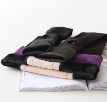 Ms. waist embossed antibacterial leggings pantyhose nylons plus velvet thermal insulation layering one foot pants