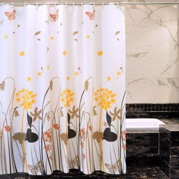 Bathroom shower curtain added thick waterproof and mildew proof shower curtain water curtain shower curtain
