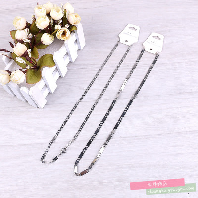 Chain single-chain titanium steel necklace Stainless steel chain men and women sweater chain