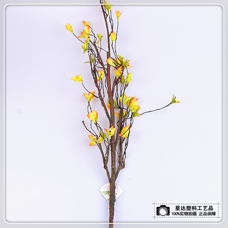 Supply Yellow Flower Branch Creative Simulation Of Flower Branch