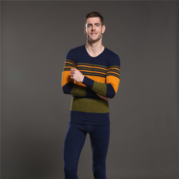 Qi Fu new warm cashmere thermal underwear set thick autumn Qiuku bottoming shirt factory direct