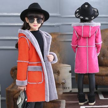 新款女童鹿皮绒外套