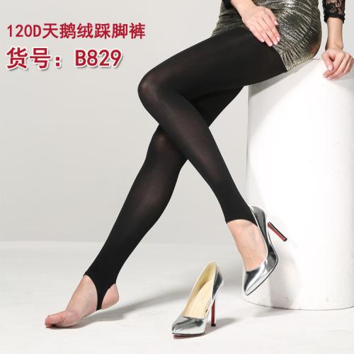 120D velvet plus fertilizer size foot pantyhose stovepipe socks sock wholesale