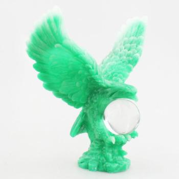 Creative new home car boutique decoration imitation jade resin crafts imitation jade ornaments crystal ball Eagle