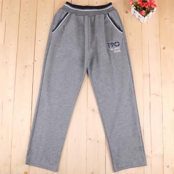 2017 new autumn and winter children's sweat pants warm pants plus velvet trousers