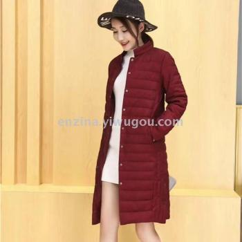 Sale of women's clothing sold in 2017 new long section of large size down jacket warm winter coat from the grant
