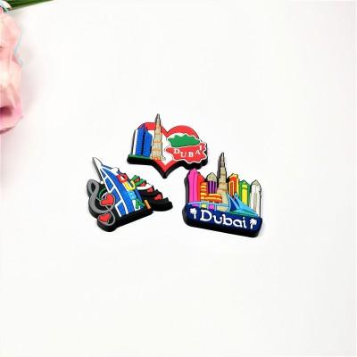pvc refrigerator stickers Dijiao Dubai tourism souvenirs magnetic stickers crafts factory custom