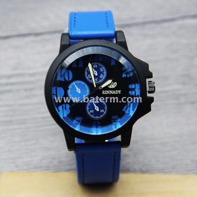 New stylish black shell double leather belt series of creative fake three fashion watch 7