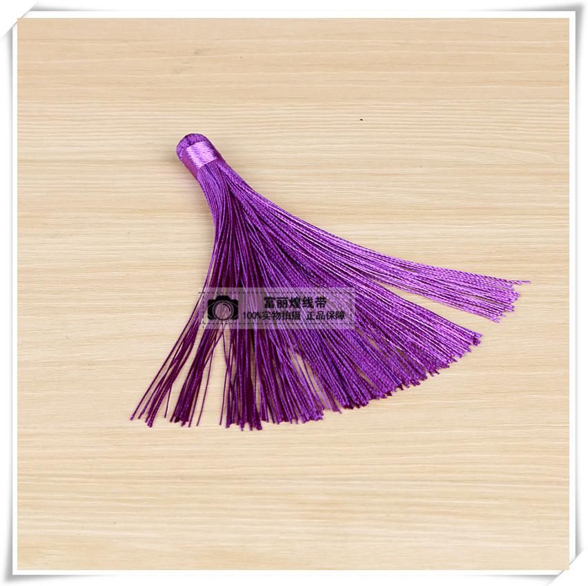 中国古风天然珍珠紫色流苏胸针挂饰
