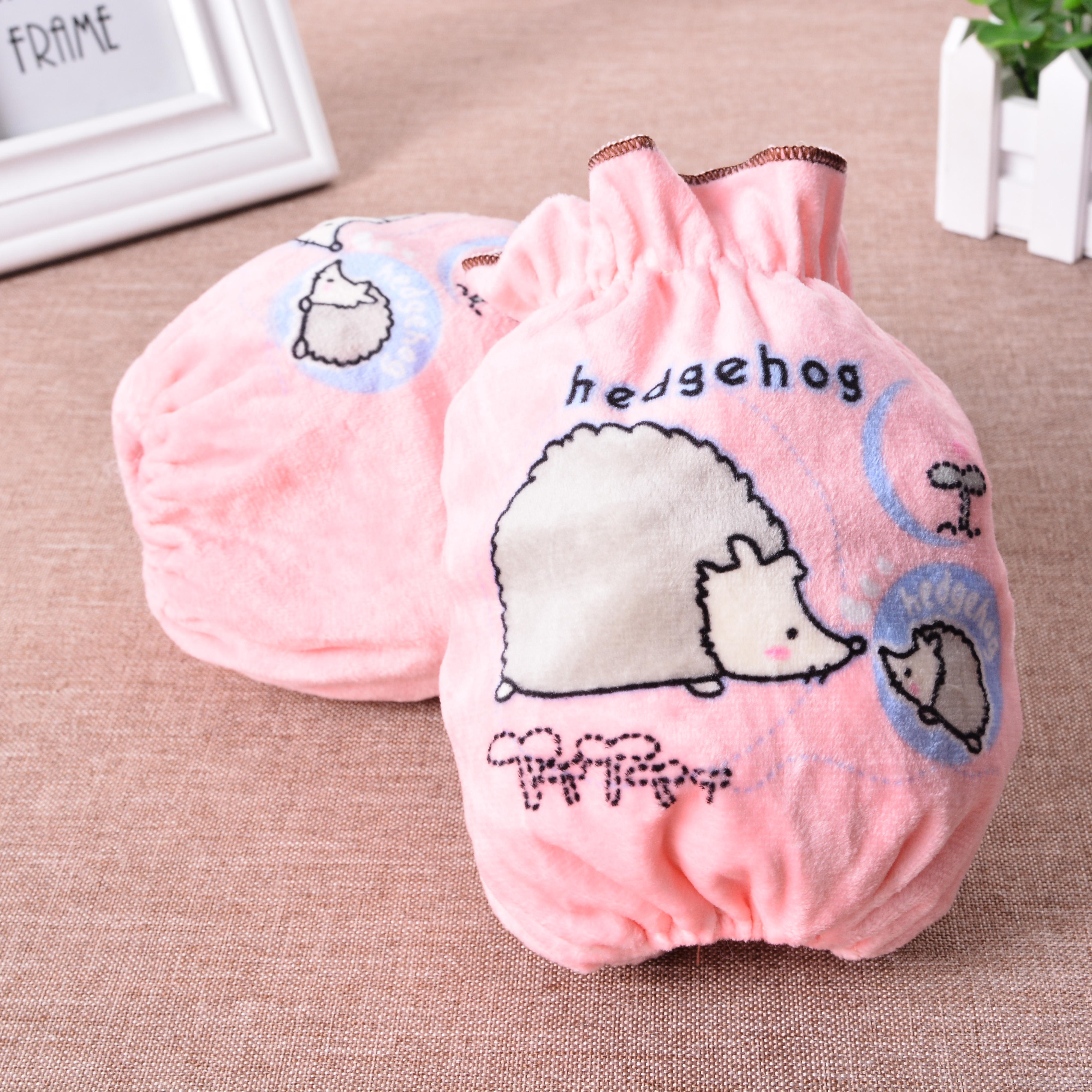 新款 韩版儿童可爱卡通毛绒袖套女士防污护袖办公袖套