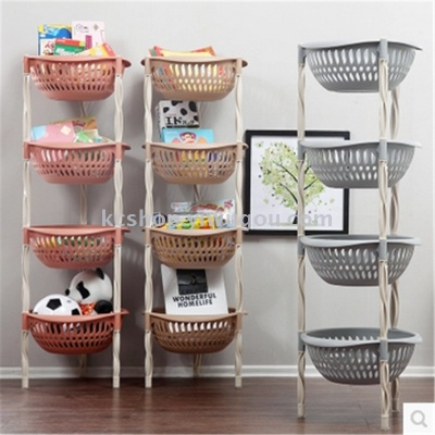 Round And Multi   Storey Living Room Kitchen Supplies The Fruit Vegetable  Storage Corner Rack