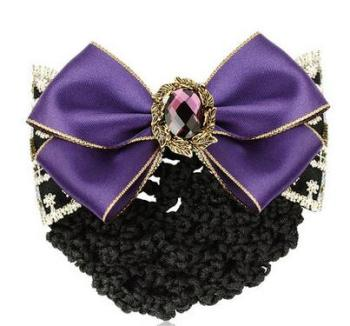 hair accessories career head flower net air hostels hotel catering network elegance top clip