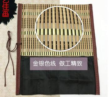 Special brush pen on both sides include pencil bag painting supplies both sides of the bamboo protection brush tool