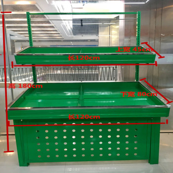 Factory direct supermarket vegetable rack fruit shelf display stand