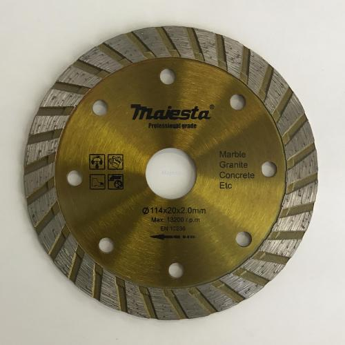 114mm Widen diamond blade for wet and dry cutting/turbo blade/segmented rim blade