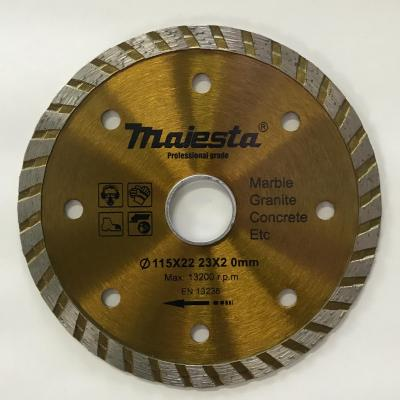 115 4.5'' Majesta diamond blade for wet and dry cutting/turbo blade/segmented rim blade/widen blade/ultra-thin blade