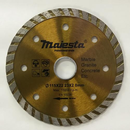 115 4.5'' Majesta diamond blade for wet and dry cutting/turbo blade/segmented rim blade/widen blade/ultra-thin blade