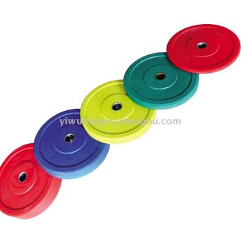 Rubber Olympic barbell